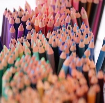 500色の色鉛筆1