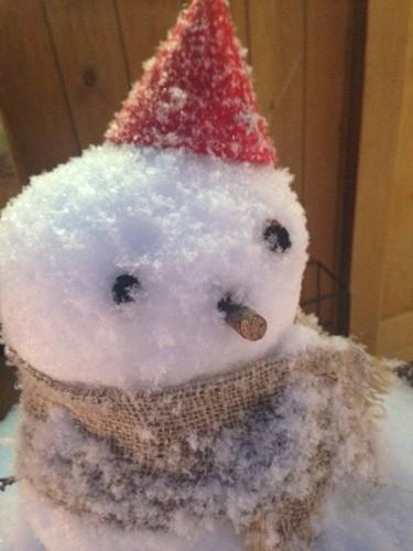 マフラーをした雪だるま