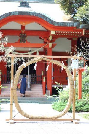 熊野神社の茅の輪