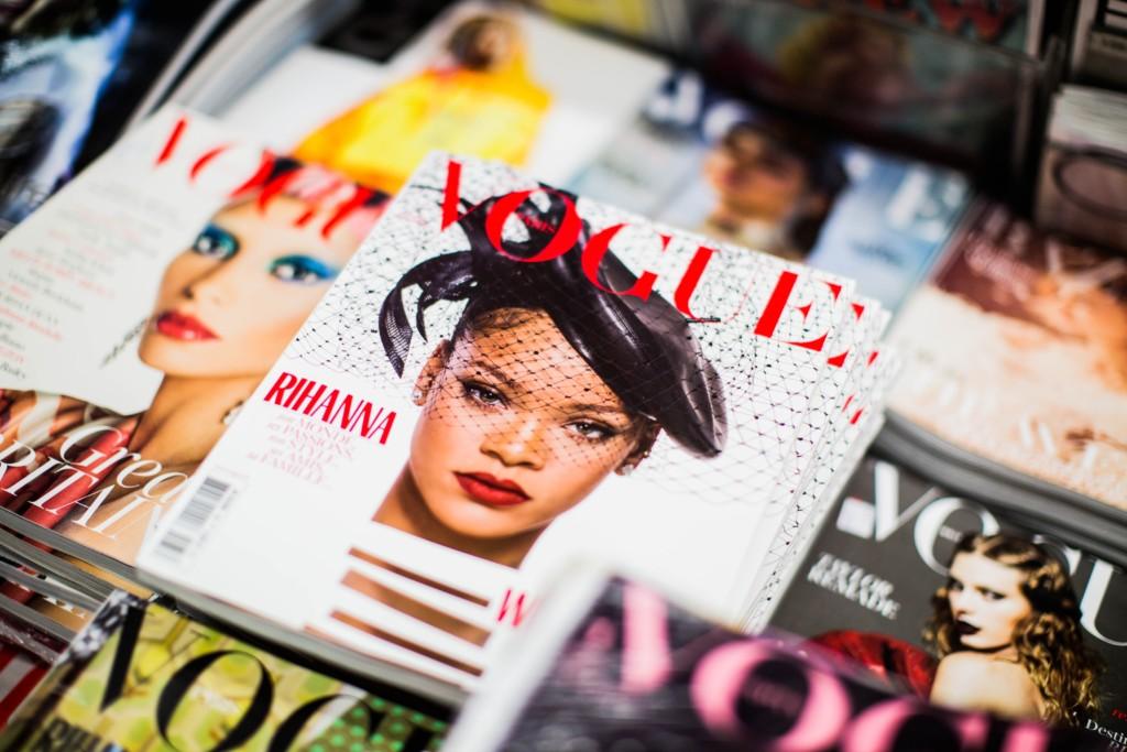並べられた雑誌